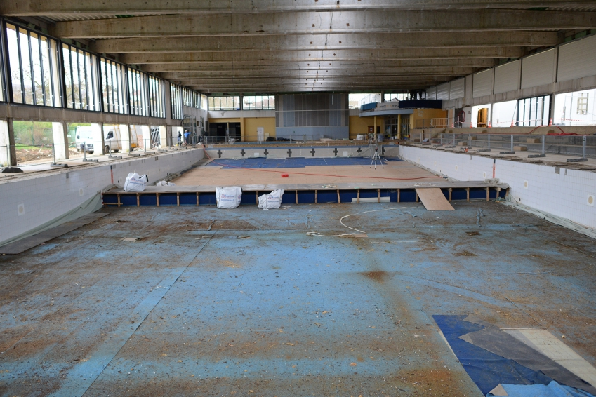 Ville de metz point d 39 tape sur le chantier de la for Centre du sablon piscine