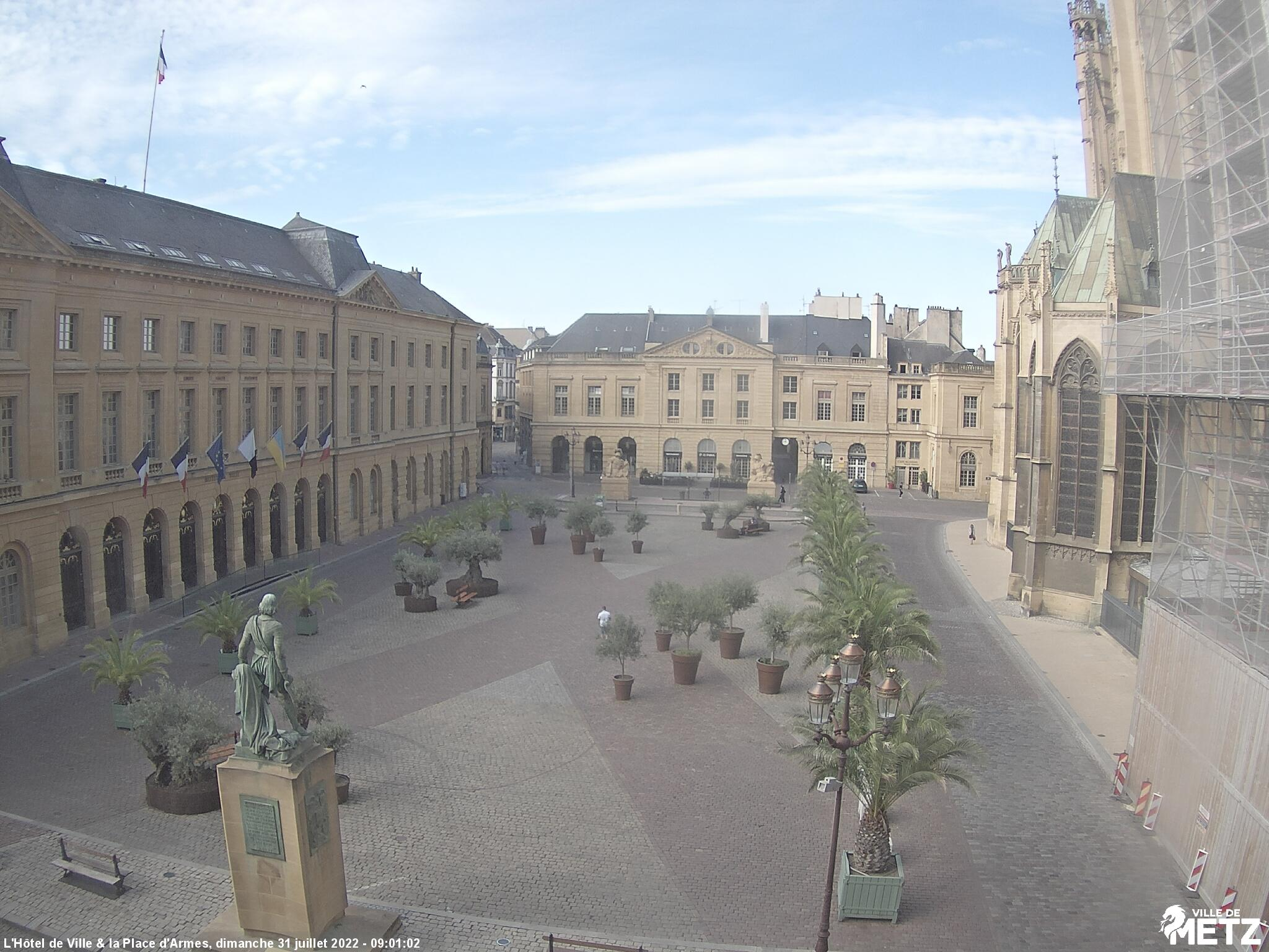 Webcam : la mairie de Metz